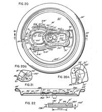 Drawings from the U.S. patent for Daniel Cudzik's easy-open pop-tab.