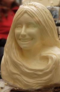 Princess Kay of the Milky Way, Butter, Sculpture, Bust