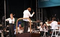 Violinist James Ehnes joins the New York Philharmonic in Van Cortlandt Park in the Bronx on July 17, 2012. Andrey Boreyko conducts.