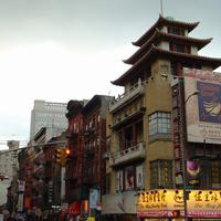 pagoda in Chinatown, New York City