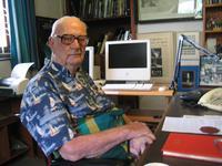 Arthur C. Clarke at his home office in Colombo, Sri Lanka