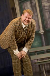 James Corden in 'One Man, Two Guvnors' at the Music Box Theatre.