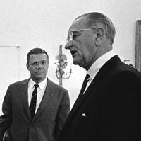 Defense Secretary Robert McNamara and President Lyndon Baines Johnson in the Oval Office