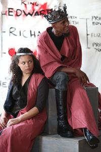 Michelle Beck and Ron Cephas Jones in The Public Theater's Mobile Shakespeare Unit production of 'Richard III.'