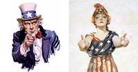 Uncle Sam and Columbia