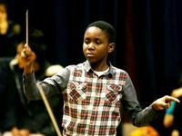 Matthew Smith, 11, is set to conduct 'Die Fledermaus' in April.