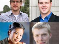 Project 440 Winners: (clockwise from top left) Alex Mincek, Clint Needham, Andrew Norman, Cynthia Wong
