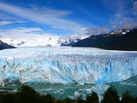 View of the Perito Moreno glacier in Patagonia, Argentina.