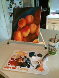 Adrienne Ognibene's painting in progress