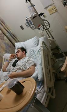 Joseph Reidel in the hospital
