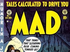 The first cover of the original Mad Comics, published in August 1952.