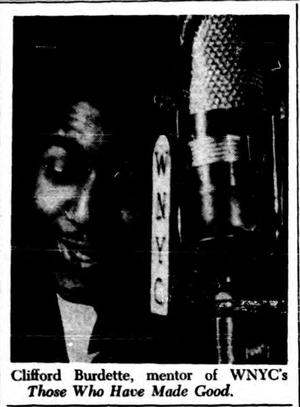 WNYC radio host and producer Clifford Burdette in 1941.