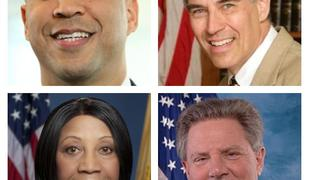 U.S. Senate hopefuls Cory Booker, Rush Holt, Sheila Oliver and Frank Pallone.