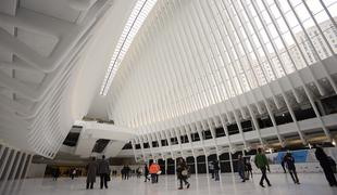 The concourse of the World Trade Center Transportation Hub will connect nine subway lines with the PATH.