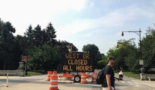 West Side Drive in Prospect Park now closed to all traffic as part of Mayor Bill de Blasio's Vision Zero campaign to eliminate traffic fatalities.