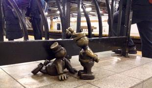subway, mta, otterness, sculpture , Fare beating