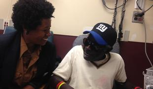 Dr. Sandra Scott talks to a patient in the emergency room at Newark's University Hospital