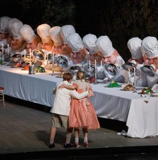 A scene from Act II of Humperdinck's 'Hansel and Gretel.'