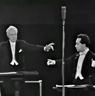 Leopold Stokowski and Jose Serebrier co-conduct the the American Symphony Orchestra in Ives's Fourth Symphony