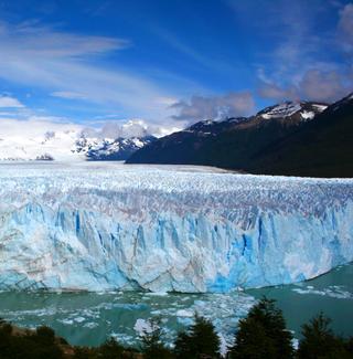View of the Perito Moreno glacier in Patagonia, Argentina.