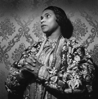 Marian Anderson (1902-1993), American opera singer. France, circa 1955.
