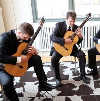 The Dublin Guitar Quartet in the WQXR Café.