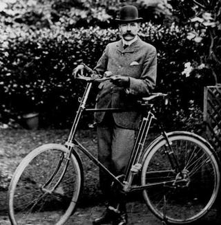 Elgar with his bike, 'Mr. Phoebus'
