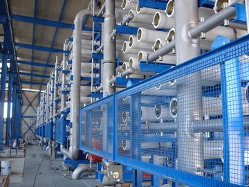 Inside a desalination plant in Spain. A proposal to build a similar facility in Rockland County, N.Y., was defeated.