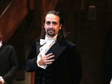 Lin-Manuel Miranda stars as Alexander Hamilton in 'Hamilton' on Broadway