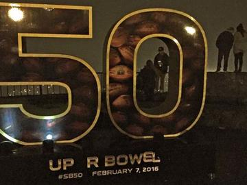 San Franciscans have had some fun with the Super Bowl 50 sculpture at Twin Peaks