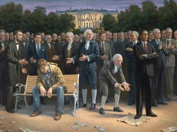 'The Forgotten Man,' a painting by Jon McNaughton