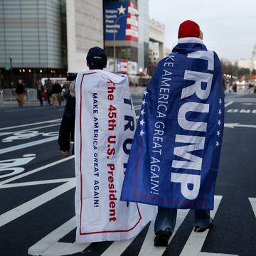 Supporters of Donald Trump in Washington, D.C.