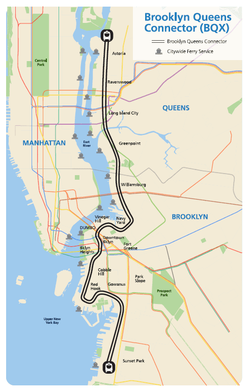 map of brooklyn and queens From Brooklyn To Queens By Streetcar Wnyc News Wnyc map of brooklyn and queens