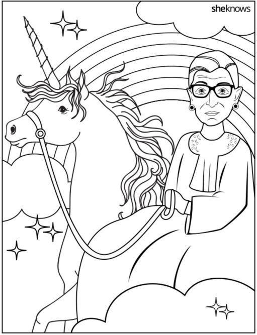 RBG rides a unicorn