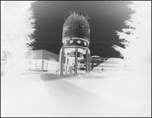 An image by filmmaker Jan Peters of the CERN grounds, taken during his residency