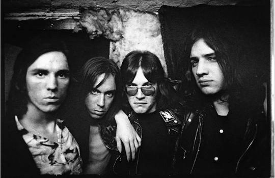 Iggy and The Stooges, with James Williamson at far left
