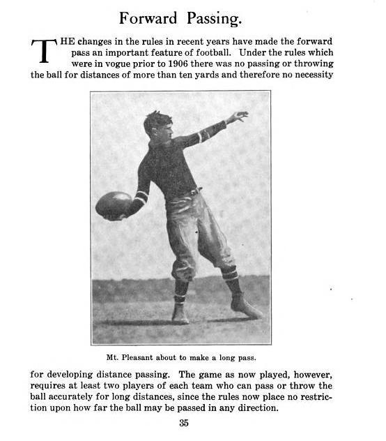 Page from Glenn 'Pop' Warner's 1912 book A Course in Football for Players and Coaches
