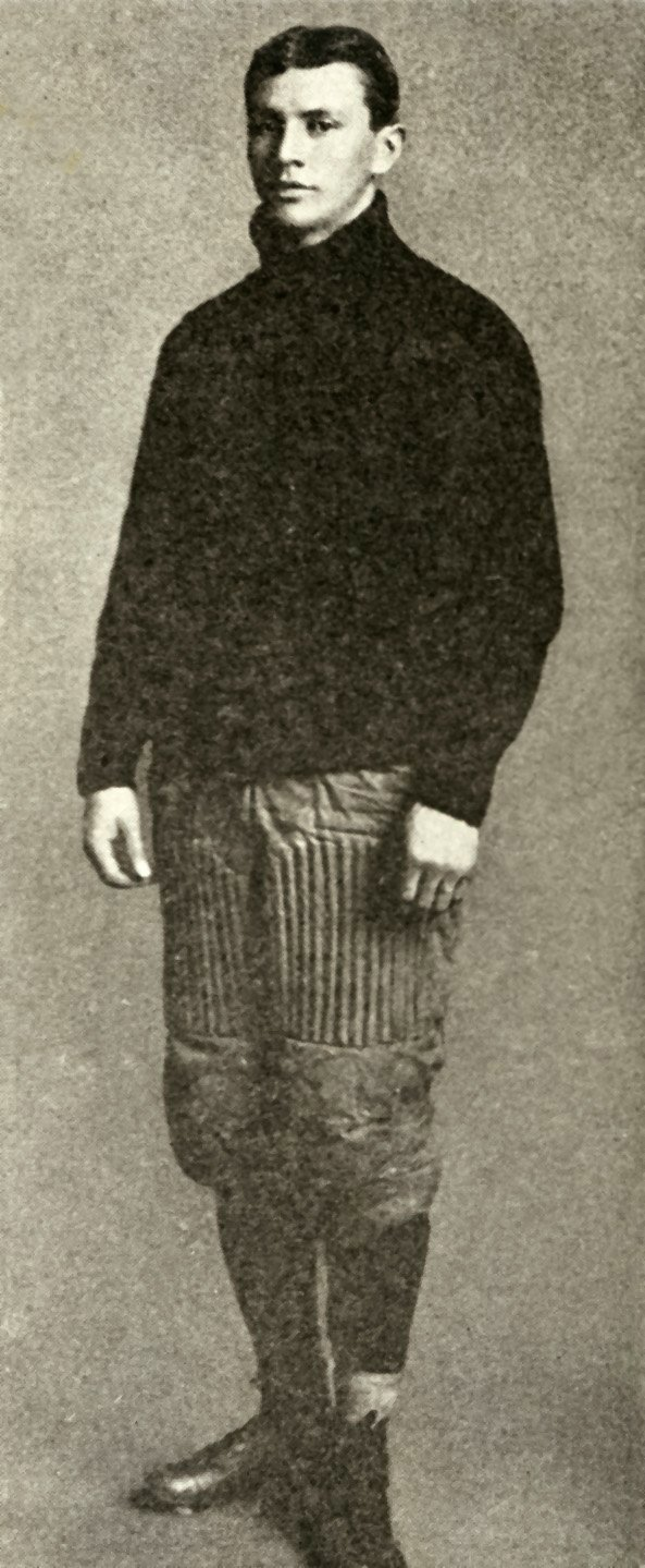 Frank Mt. Pleasant in football uniform