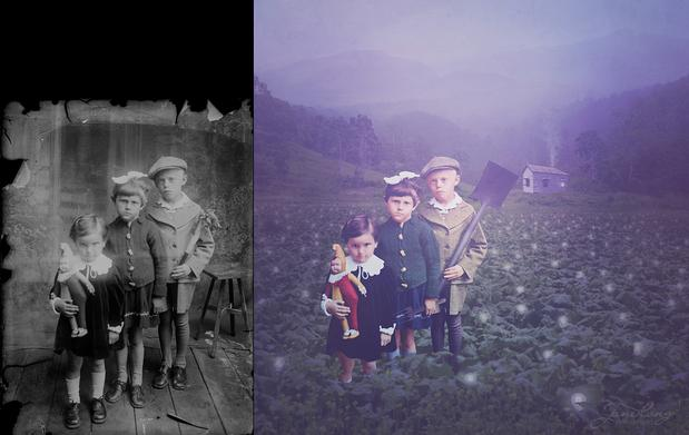 Left: Image from the Costică Ascinte Archive, Right: The Idea Farm by Jane Long