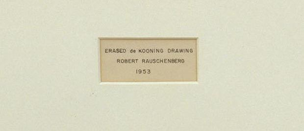 'Erased de Kooning Drawing' detail, by Robert Rauschenberg