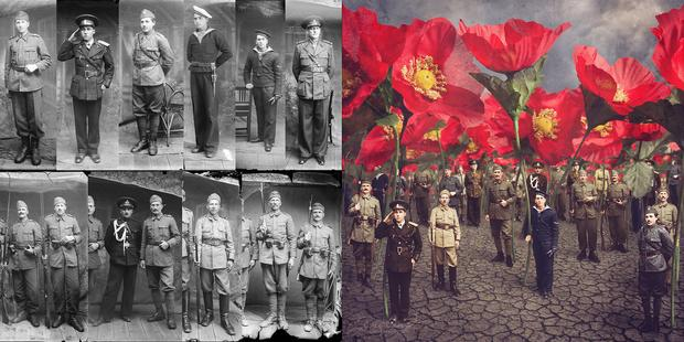 Left: Image from the Costică Ascinte Archive, Right: Tall Poppies by Jane Long