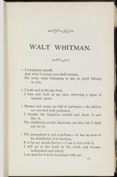 Song of Myself Walt Whitman Leaves of Grass American Icons Studio 360