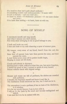 whitman and women song of myself essay
