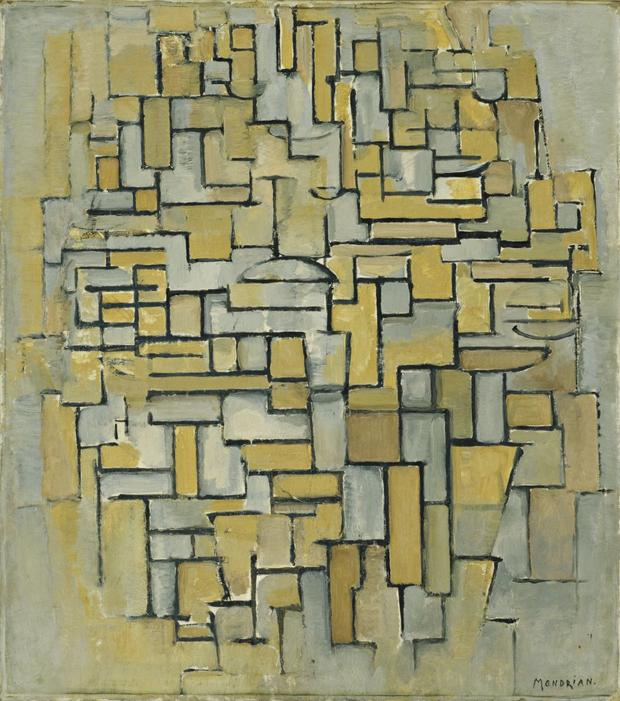 Piet Mondrian, Composition in Brown and Gray, 1913