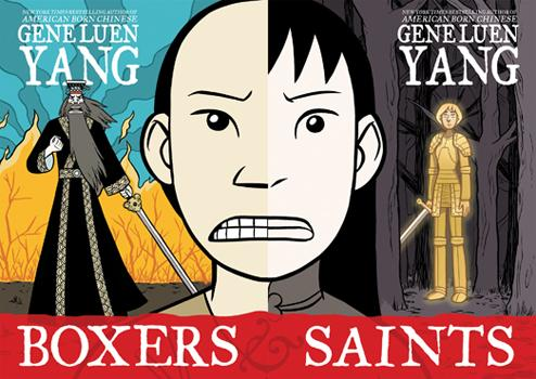 The cover of Gene Luen Yang's graphic novel Boxers & Saints.