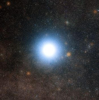 Alpha Centauri, the closest star to our solar system. Organizations like 100 Year Starship believe humans could launch a starship to Alpha Centauri in as little as a century.