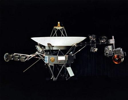 One of NASA's two identical Voyager space probes, launched in 1977. The fastest unmanned space probe that we have, Voyager would take 80,000 years to reach Alpha Centauri.