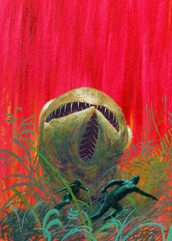 Cover art for John Rackham's 1965 novel <em>We, the Venusians</em>.