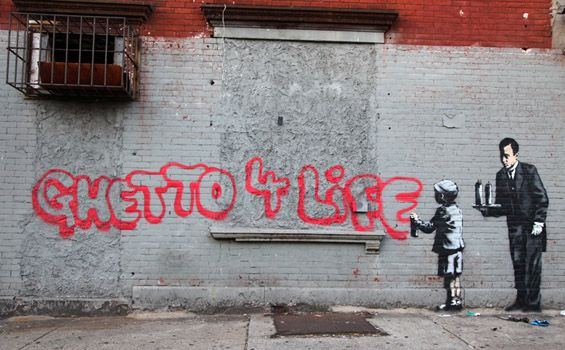 Banksy, Untitled, 2013. Location: South Bronx.