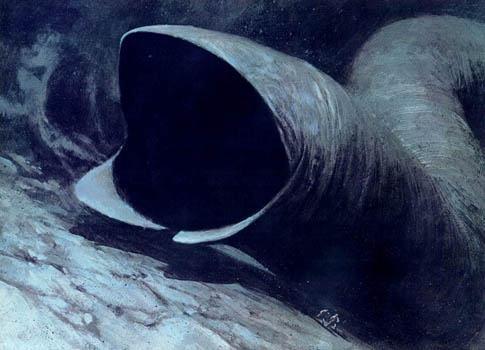 <em>Desert Nightmare </em> Illustration from Frank Herbert's 1978 <em>Dune</em> calendar.